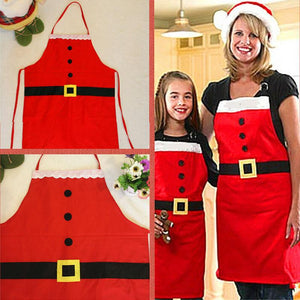 Santa Claus woman Kitchen Apron