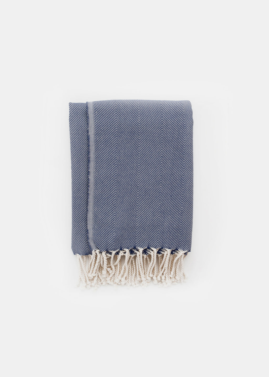 Turkish Towel Pattern Navy - YUYU Sustainable Home Goods