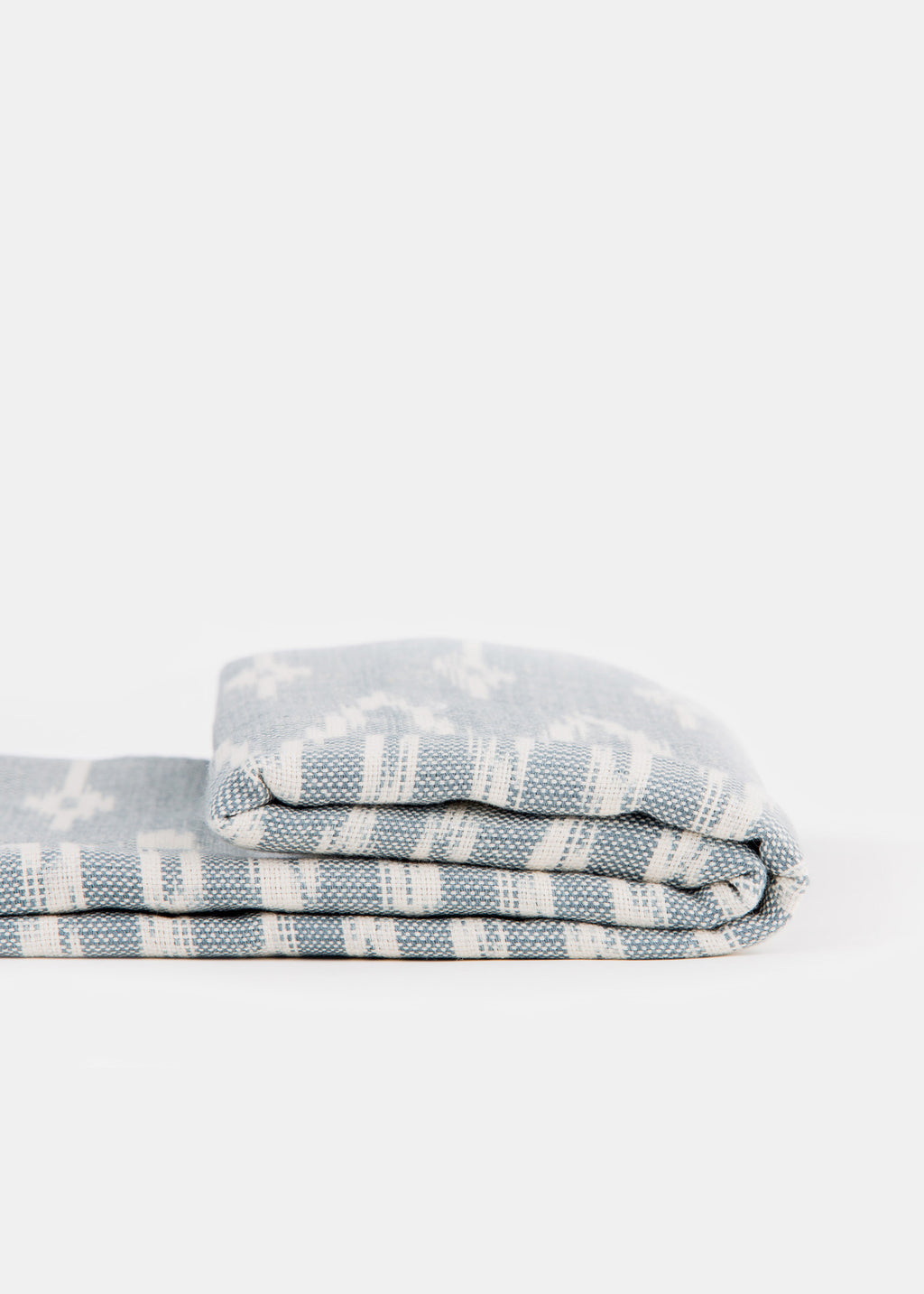 Grey Blue Handwoven Throw - YUYU Sustainable Home Goods