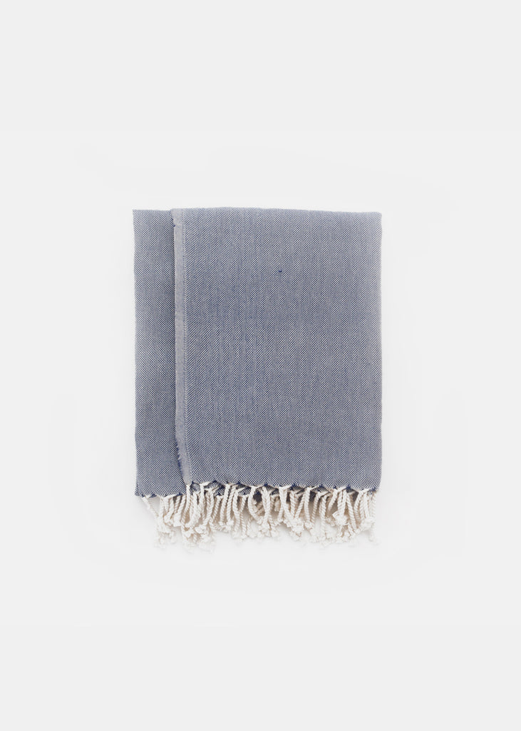 Turkish Towel Navy Plain - YUYU Sustainable Home Goods