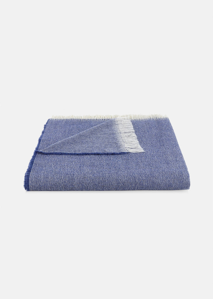 Wool Throw Royal Blue