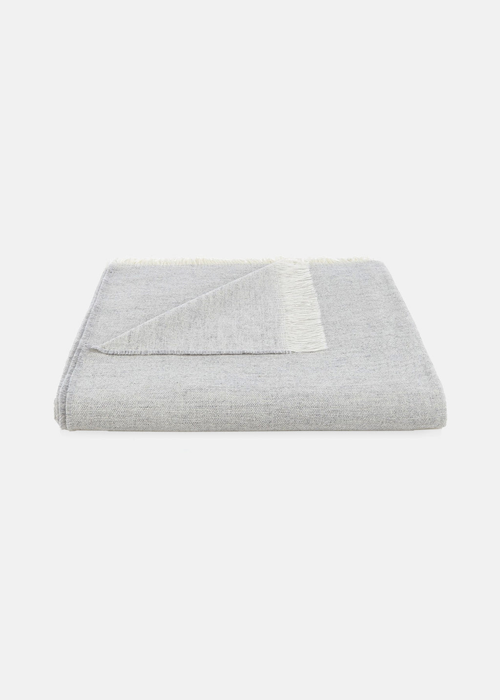 Fine Wool Throw Grey
