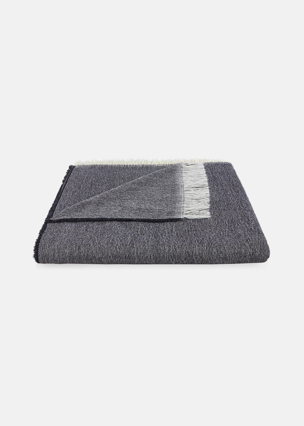 Fine Wool Throw Charcoal