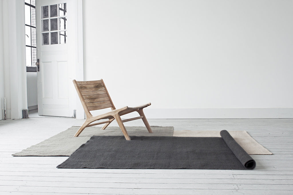 Charcoal Jute Rug - YUYU Sustainable Home Goods