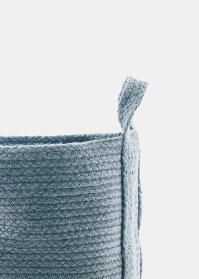 Stone Blue Basket - YUYU Sustainable Home Goods