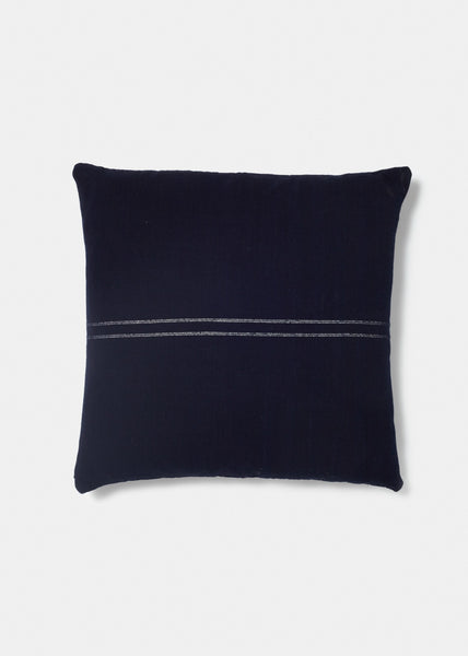 Indigo Pillow Lines - YUYU Sustainable Home Goods