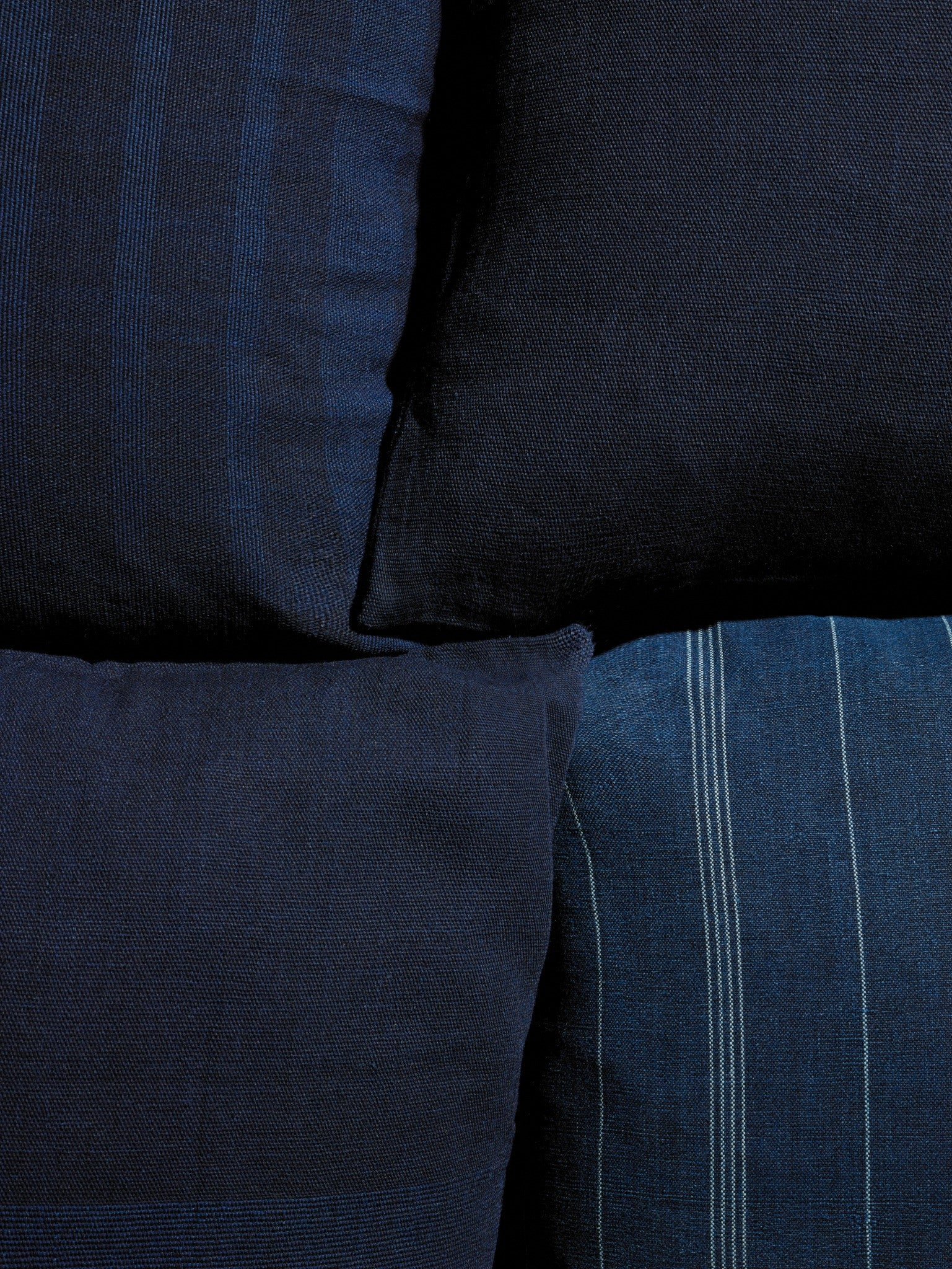 Set of 4 Indigo Pillows - YUYU Sustainable Home Goods