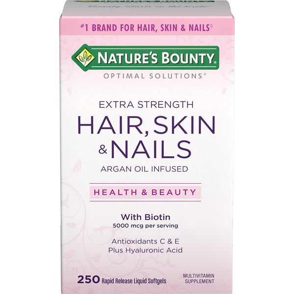 Hair,Skin and Nails Vitamins infused with biotin to help regrow thinning hair.