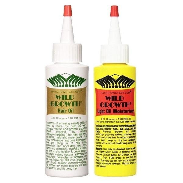 Wild Growth Hair Oil is used to regrow edges and promotes strong, healthy hair.