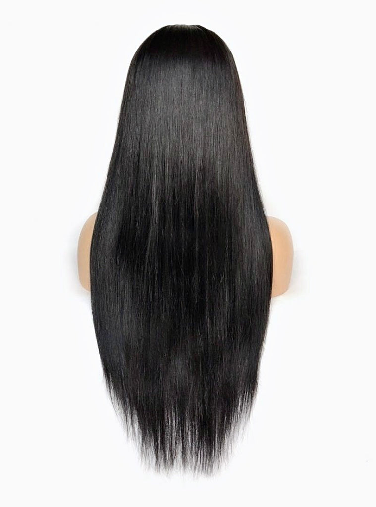 Long, Sleek, Bone Straight Lace Closure Wig