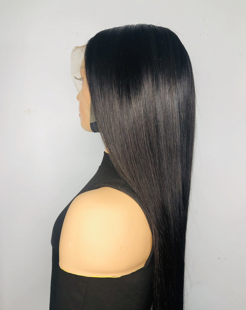 Curved Side Part Lace Frontal Wig