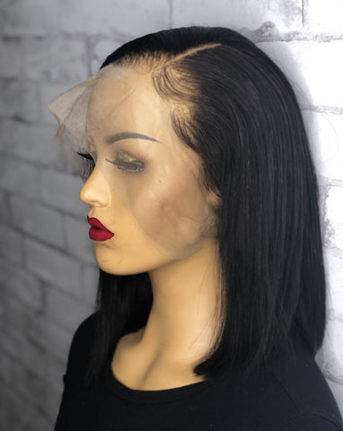 360 Lace Frontal Bob Wig with Asymmetrical Cut