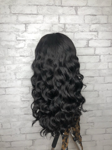 Brazilian Body Wave Lace Closure Wig with Wand Curls