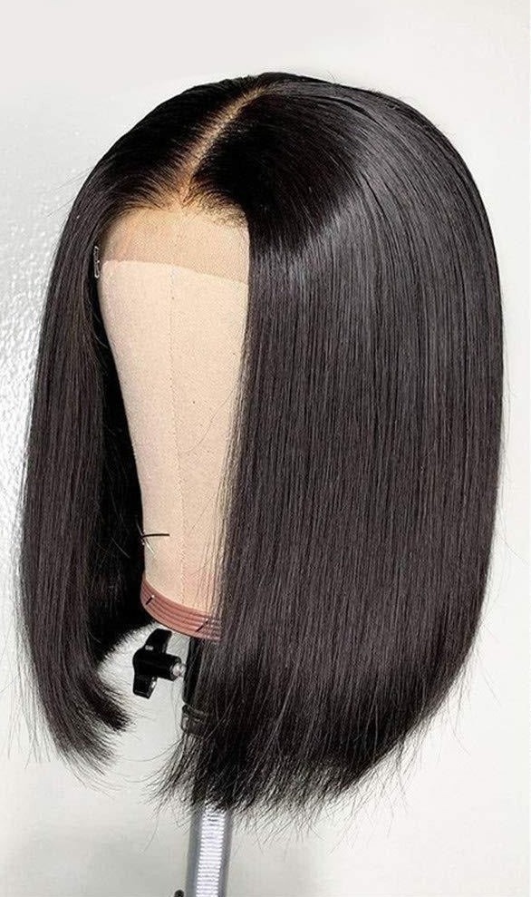 Blunt Cut Lace Closure Bob Wig