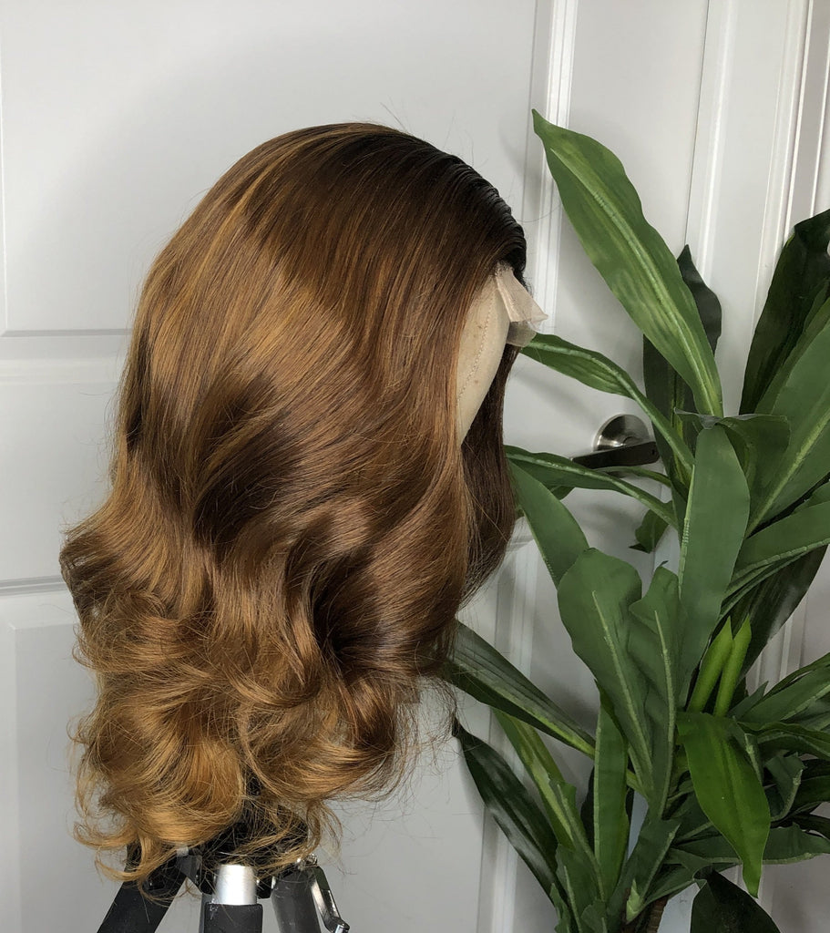 Golden Ash Blonde Raw Indian Wavy Unit