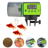 200ml Automatic Fish Feeder For Fish Tank. Auto Feeders With Timer Pet Feeding Dispenser LCD Indicates Fish Feeder