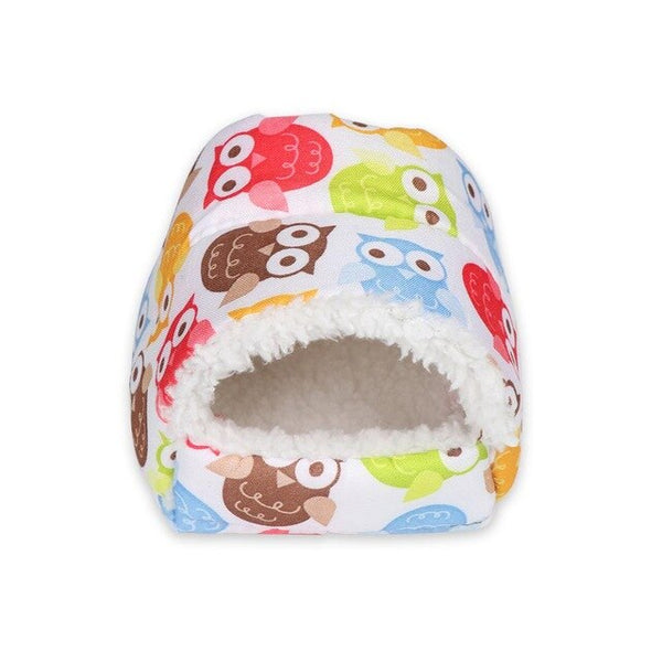 Mini Hamster Warm Pad Sleeping Bed Nest Plush Soft Rabbit Guinea Pig House Small Animal Cage Winter