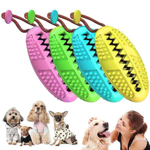 Dog Brush Toothbrush Pet Chew Toy Doggy Stick Tooth Cleaning Soft Rubber Dot Massage Toothbrushes Toothpaste Small Dogs