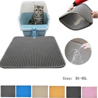 10 Colors Litter Mat, Pet Carpet, Cat Sand Cat Toilet Mat. Cats Waterproof Mats For Pets Cats Trapper Foldable EVA Non-slip Mats