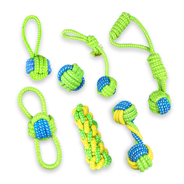 Cotton Dog Rope Toy, Knot Chew Teething Puppy Toys Pet Playing Ball for Small Medium Large Dogs Petshop Popular Toys Pet Supplies