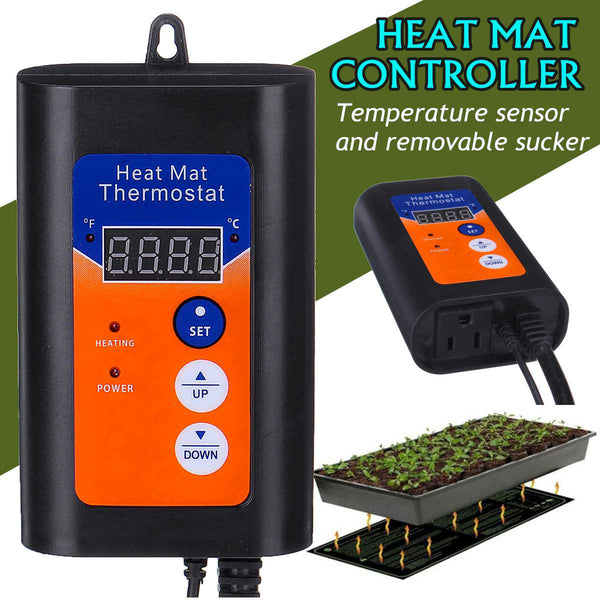120V 1000W Digital Heat Mat Thermostat Temperature Controller For Hydroponic Plants Seed Germination Reptiles Pets Supplies