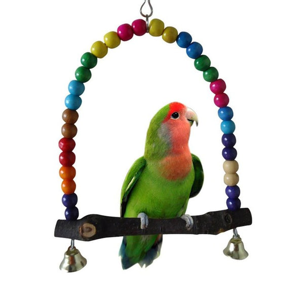 Small Birds Toy Wooden Ladders Swing Scratcher Perch Climbing Ladder With Rope Bird Cage Hamsters Parrot Toys Pet Supplies