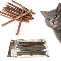 10/15/20pcs/Lot Pure Natural Catnip Pet Cat Toy Molar Toothpaste Branch Cleaning Teeth Silvervine Cat Snacks Sticks pet supplies