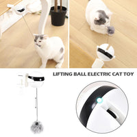 Electronic Motion Cat Toy Interactive Cat Teaser Toy Yo-Yo Lifting Ball Electric Flutter Rotating Interactive Puzzle Pet Toy