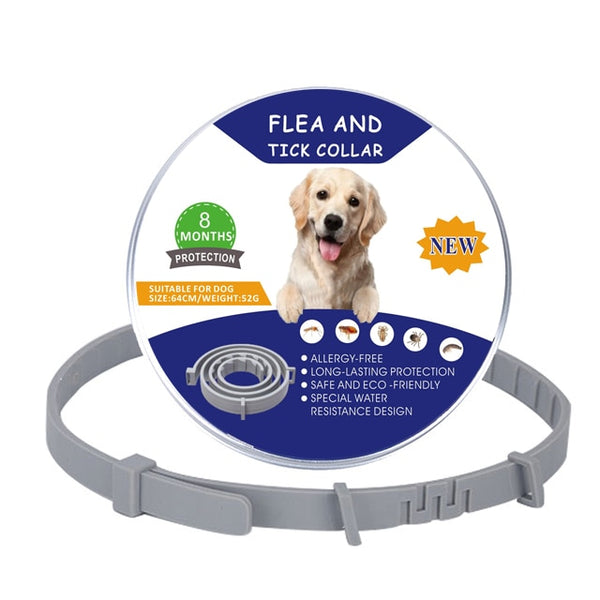Pet dog Flea collar TPE Pet Dog Cat Anti Flea tick and flea collar Mosquito Insect Collar Adjustable for Protection for pet