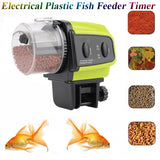 Automatic Fish Feeder Aquarium Timer Feeder Electric Electro Fish Feeder Fish Tank Timer Plastic Digital Feed Fish Tank Food