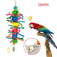 7 Pcs/set Bird Parrot Swing Toy Hanging Bell Ladders Climbing Chewing Hanging Toy Bird Accessories Birds Toys