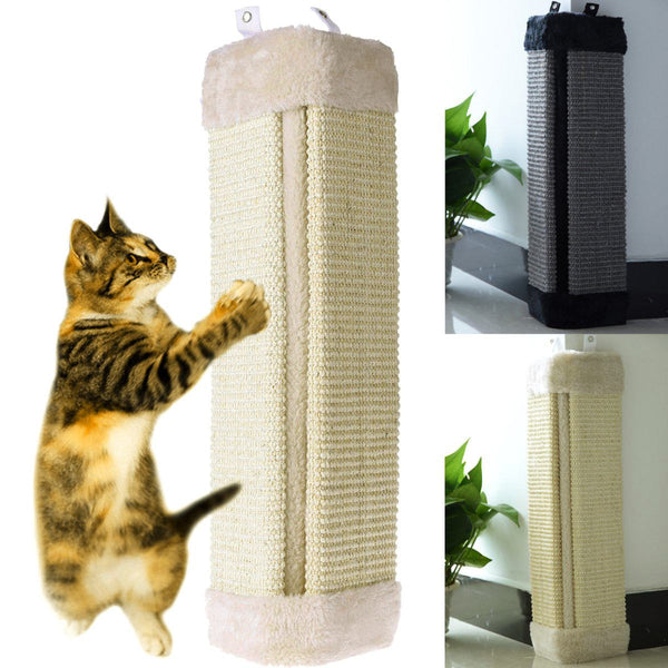 2 Colors Cat Scratches Board Pet Kitten Wall Corner Scratching Mat Post Tree Scratcher Sisal Hemp Kitty Pet Plush Toys 49X23cm