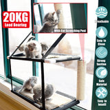 20KG Load Cat Window Perch Pet Cat Hammock Bed Window Mounted Seat Home Suction Cup Hanging Bed Mat Cat Accessories
