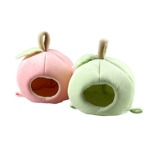 Pet Hamster Nest Apple Style Small Animal Soft Warm Bed Pet Hammock Hamster Rat Guinea Pig House Nest Pad
