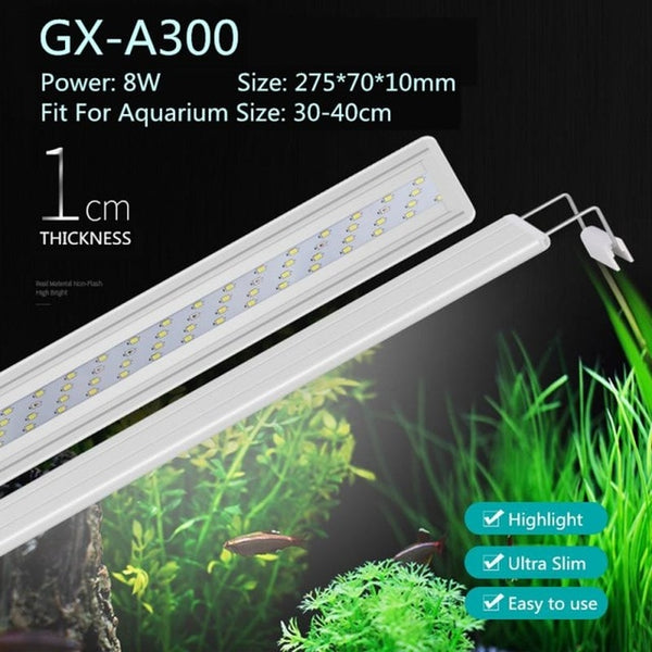 Aquarium LED Lighting Lamp Aquatic Plant Fish Tank LED Light Aquarium Tube Light Waterproof Aquatic Plants Grow Light