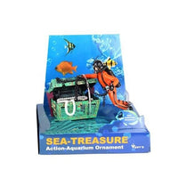 Diver Hunter Treasure Chest Underwater Landscape Ornament Cartoon Fish Tank Aquarium Landscaping Ornament Decoration
