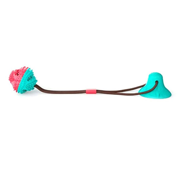 Dog Toys Sucker Pull Leaky Food Pulling Rope Rubber Football Toy Cleaning Dog Teeth Dog Accessories Bite the Knot Play Tug