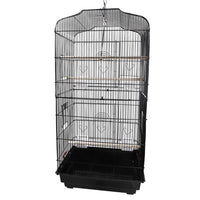 "37"" Bird Parrot Cage Canary Parakeet Cockatiel LoveBird Finch Bird Cage with Wood Perches & Food Cups Black"
