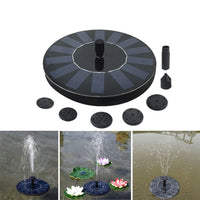 Bird Bath Fountain Pool Pond Waterfall Fountain Garden Decoration Outdoor Bird Bath Solar Powered Fountain Floating Water Pump