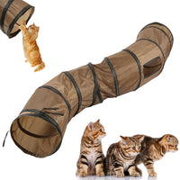 """S""Funny Pet Tunnel Cat Play Tunnel Brown Foldable 1 Holes Cat Tunnel Kitten Cat Toy Bulk Cat Toys Rabbit Play Tunnel Tube"