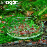 Clear Glass Shrimp Dish Feeder. Tray Round Container Aquarium Fish Tank Feeding Bowls Feeding Tropical Fish