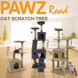 H173CM Cat Tree House with Hanging Ball Kitten Furniture Scratch Solid Wood for Cats Climbing Frame Cat Condos Domestic Shipping