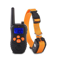 New 300M Remote Electronic Dog Training Collars With LCD Blue Screen Display Rechargeable 100 Levels Pet Electronic Dog Collars