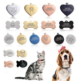 New 1 pcs cat dog ID tag. Free engraving dog Collar pet Charm. Pet name pendant Bone Necklace Collar Puppy cat collar accessory