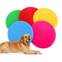 Silica Gel Soft Pet Flying Discs Dog Toys