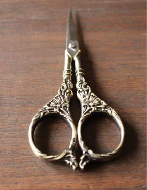 Botanical Garden Scissors-Antique Gold