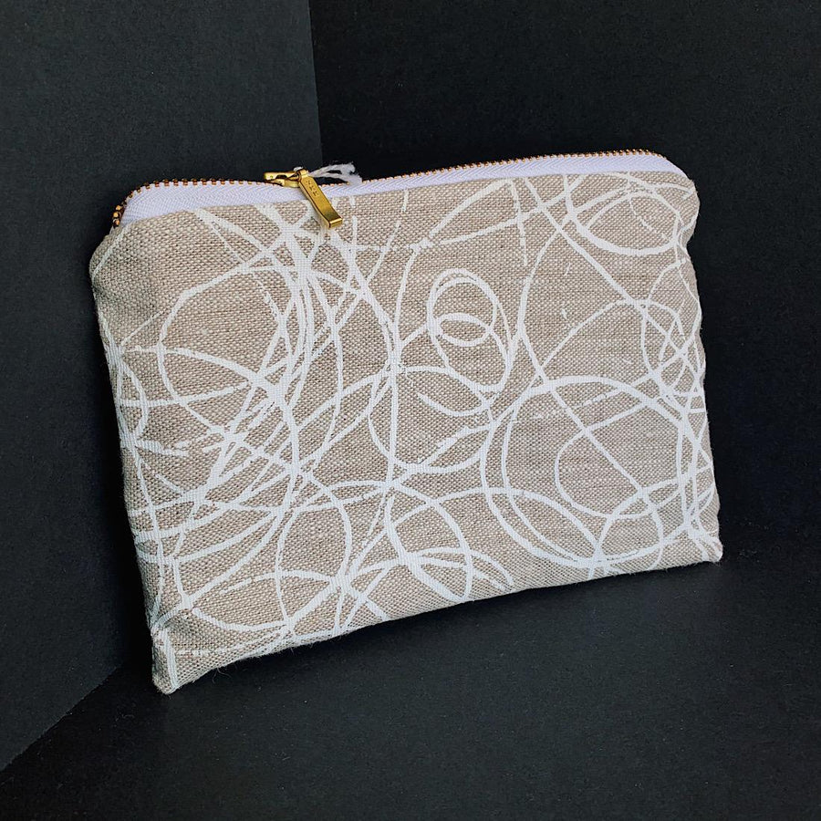 Print Pouch-White Lines