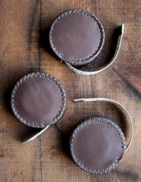 Hand-Stitched Leather Tape Measure-Espresso