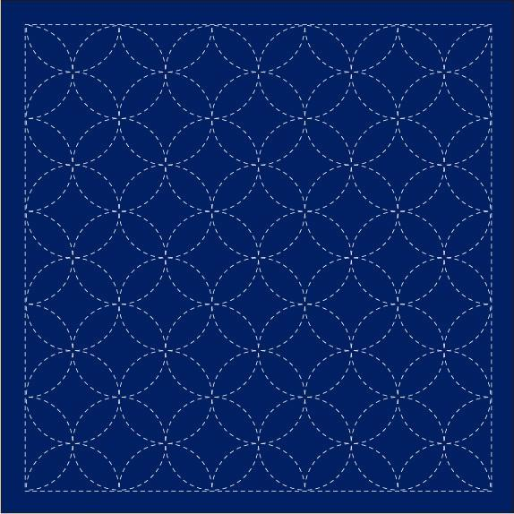 Sashiko Sampler-Navy-Seven Treasures
