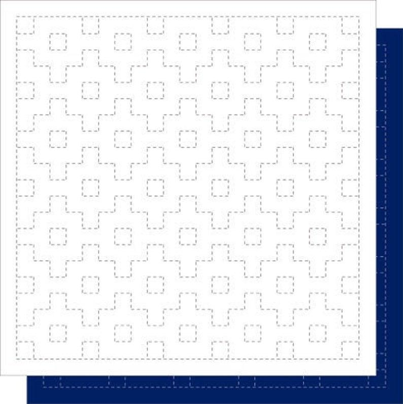 Sashiko Sampler-White-Connected Right Angles